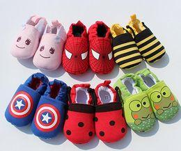 Wholesale Bebé infantil los zapatos del hombre araña del capitán América de los vengadores Zapatos impresos animales del animal grande del héroe del niño