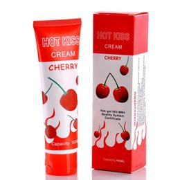 Wholesale Hot Kiss Anal Oral Sex Lubricant For Women Men Cherry Edible Lubricant Vaginal Lubrication Water Based Massage Oil ml