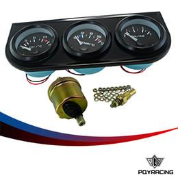 52mm (medidor de temperatura de óleo + medidor de medidor de pressão de óleo + medidor de medidor de pressão de óleo com sensor 3in1 medidor de medidor eletrônico triplo auto medidor de carro TAG03