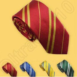 Estilo Harry Potter School corbatas lazo rayado vestido Ascot camisa Lazos de Estudiantes 500pcs Gryffindo Ravenclaw Slytherin Hufflepuff del lazo CCA4993