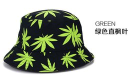 Wholesale New children Fashion Maple leaf pattern Caps Cool fisherman hat Bucket hats For Men Women caps colors