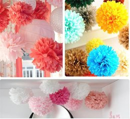 Wholesale 2016 Wedding Accessorie Inch Mix Size Ball Peony Big Papers FlowersPom Poms for Christmas Wedding Party Birthday Decoration Supplies