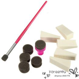 Wholesale New Arrival Set Nail Art Brush Sponge Stamp Transfer Template Polish Stamper Stamping Gel Sets Kit Nails Design DIY Hot
