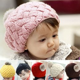 Wholesale Hot Sales Unisex Fashion Cute Baby Kids Girls Toddler Knitted Crochet Beanie Hat Cap Ax37