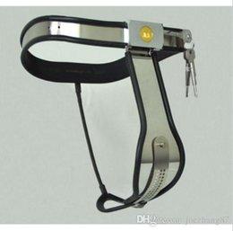 Wholesale M148 nova escravidão feminina de aço inoxidável com fecho ajustável T Type dispositivos de castidade cinto preto branco para escolher brinquedos do sexo para mulheres