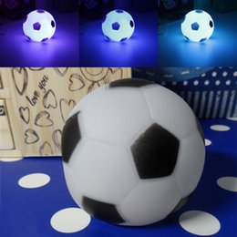 cute colorful led football night light top quality colors changing football led night light mood party indoor lighting childrens gift cheap indoor mood cheap mood lighting