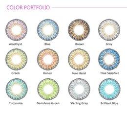 Wholesale Christmas special fresh colors contact lens pairs case free Contact lenses color contact lens crazy lens Tones