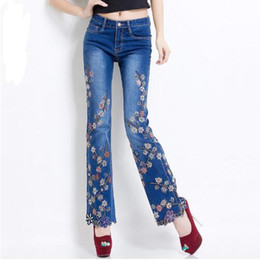 Discount Women Plus Size Embroidered Jeans | 2016 Women Plus Size Embroidered Jeans On Sale At ...