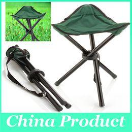 Chaise pliante respirante Portable Outdoor Beach Sunbath Picnic Barbecue Fête Pêche Camping Trépied Tabouret Super Light
