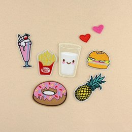 Wholesale Brand New Cartoon Fruit Patches Embroidered Patches For Clothes Clothing Diy Patchwork Fabric Perfect Patches Set CA12289