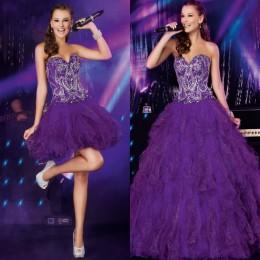 Discount Purple Quinceanera Dresses Detachable Skirt | 2017 Purple ...