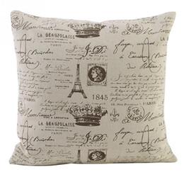 2015 New Vintage Letter Home Decorative Pillow Case Good Quality Cheap Home Goods Decorative Pillows
