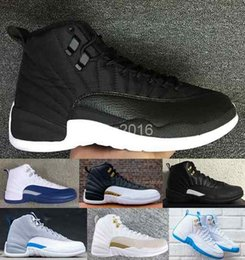 online shopping 2016 retro XII basketball shoes for women men high quality OVO wings taxi playoffs gamma blue black sport retros s Sneakers shoe