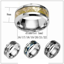 mixed sale superman titanium stainless steel band rings fashion cool men women ring charm jewelry gold black silver drop shipping - Superman Wedding Rings