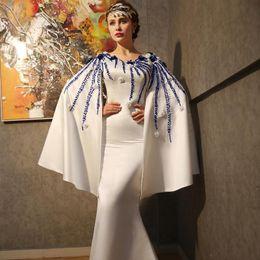 Wholesale 2016 White Cloak Muslim Long Mermaid Evening Dresses Zuhair Murad Saudi Arabia Style Evening Gowns Moroccan Kaftan Abaya In Dubai