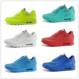 Discount shoes run air max 2016 Hot Sale Top Quality Maxes 90 QS USA-90 flag Men's Running Shoes American Independence Day Airs Casual Sneaker EUR 40-46