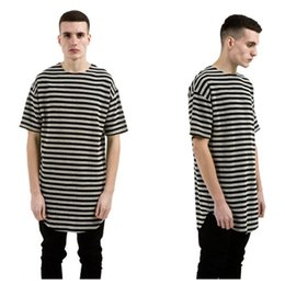 2017 long shirts for men swag Fashion ROYEW striped t shirts for men tyga hip hop