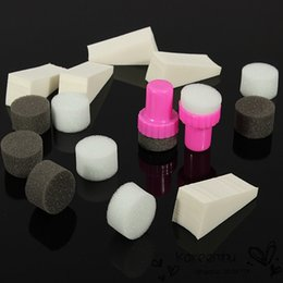 Wholesale 2014 set Nail Art Sponge Stamp Stamper Shade Transfer Template Polish Manicure DIY Tools Decoration Design Kit For Nails Beauty