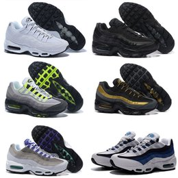 2017 shoes run air max Free Shipping airs 95 trainers Running Shoes Sports Shoes men's 95 maxes shoes Black Metallic Gold Anthracite 538416-007 Kids shoes 40-46 shoes run air max deals