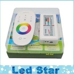 DC 12V 24V RGBW LED Controller 2.4G RF Télécommande à écran tactile 6A 4 canaux pour smd 5050 RGBW LED Lights bande