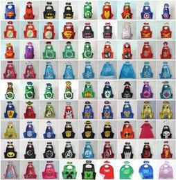 Wholesale 98 styles Double Side Superhero Capes mask The Avenger Ninja Star Wars cape mask set My Little Pony Frozen Cinderella for Kids CM