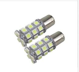 Discount wholesale interior lighting 20X Super White 27 SMD RV Camper Trailer LED 1156 1141 1003 Interior Light Bulbs holesale