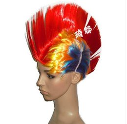 discount colored party wigs wholesale short punk wig colored wig comb hair comb wig cosplay - Colored Wig