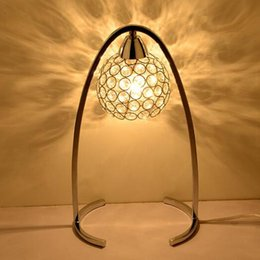 2016 new modern led decorative lamp crystal lamp dimmable bedroom bedside table lamp study lamp living room - Decorative Lamps