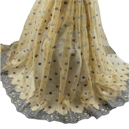 Wholesale YH Beautiful Swiss voile lace apparel fabric with flower embroidery African cotton lace fabric