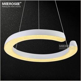 Discount Kitchen Lighting Contemporary Led Ring Light Fixture Acrylic Pendant Light Modern Led Lighting White Led