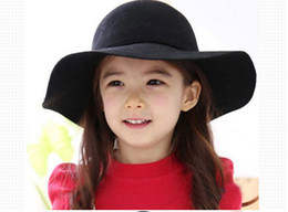 Wholesale Bucket Hat Baby Hat Children Caps Kids Hats Girls Caps Autumn Winter Sun Hat Kids Cap Girls Hats Wool Cap Fashion Wide Brim Hats