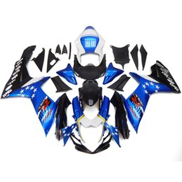 Carenagens completas para Suzuki GSXR600 GSXR750 K11 2011 2012 2013 2014 2015 Injeção ABS Motorcycle Kit Carenagem Cowling White Blue Stars New