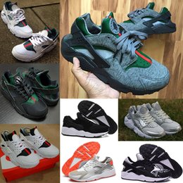 online shopping Summer Classic Air Huarache Run Light Breathable Sneakers Men Women White Black Guccirache Red Pink Grey Running Shoes with Original Box