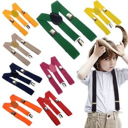 Wholesale Children Straps Cute Elastic Boys Girls Clip on Suspenders Clothing Kids Cool Vintage Fashion Y Shape Adjustable Braces High Quality Braces