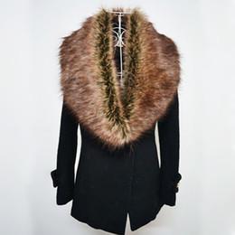 2017 зима искусственного меха воротник женщин Шарфы моды пальто свитер шарфы воротник Роскошные шерсти енота шеи Cap 12 цветов FS0942