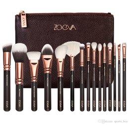 Wholesale El precio bajo Zoeva de cepillo del maquillaje de lujo Profesional Set Maquillaje Kit de Herramientas Zoeva Rosa de Oro en polvo Mezclar los cepillos