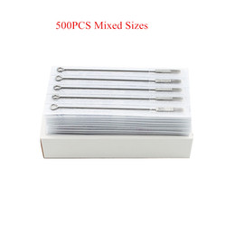 Wholesale 500PCS Assorted Disposable Mixed Size Sterilized Tattoo Needles For Tattoo Machine Gun Ink Cups Tips Kits