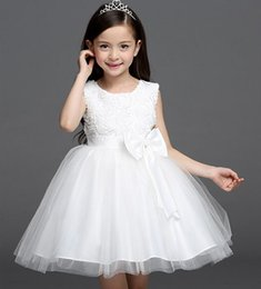 Discount Simple White Dress For Little Girl | 2017 Simple White ...