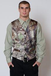 2016 г. Новый Camo жилет Realtree мужские свадебные костюмы V шеи формальной одежды жилет Шафера Верхняя одежда Groom