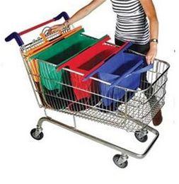 Wholesale 4 in1 Shopping Grocery Bag For Supermarket Trolleys Carrier Bag Shopping Bag Reusable Trolleys Folding Shopping Bag DHL Free