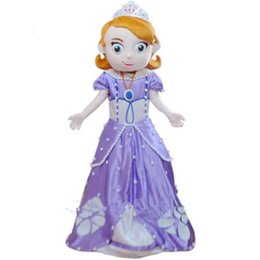 Wholesale Sophia Princess Mascot Costume Sofia the First Halloween Party Dress for children and adult with good quality