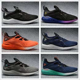 Wholesale With Box Adidas Yeezy Boost Men Women Running Shoes High Quality Yeezys Alphabounce Cheap Fashion Jogging Shoes