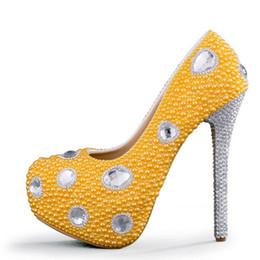 Discount Yellow Platform Bridal Shoes | 2017 Yellow Platform ...