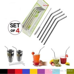 4 + 1 Set Aço Inoxidável palhas e escovas de limpeza para Yeti Rambler RTIC Drinks Tumbler Cup Escova 20 onças canudo / 30 onças Avaiable