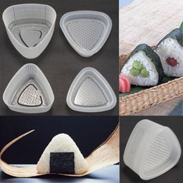 2017 frame moulding wholesale 5 pcs lot wholesale 2pcs triangular form sushi mold onigiri rice ball