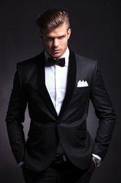 Discount Best Slim Suit For Men Black | 2017 Best Slim Suit For ...