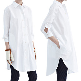 Womens White Long Sleeve Dress Shirt Online | Womens White Long ...
