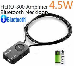 2015 nuevo héroe-800 4,5 vatios Neckloop Bluetooth potente amplificador profesional con el mini auricular inalámbrico invisible super mini micro