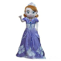 Wholesale 2016 brand new Real Pictures Deluxe Sofia the First Mascot Costume Sofia Mascot Costume with helmet and mini fan