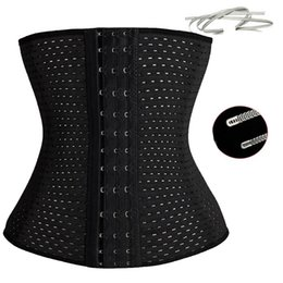 Wholesale S XXXL Women Latex Rubber Waist Trainers Waist Training Belt Kim Waist Training Belt Underbust Corset Body Shaper Shapewear Waist Cinchers